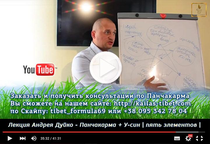 Видео о Панчакарма - лекция А. Дуйко