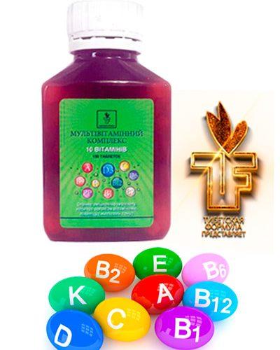 Мультивитаминный комплекс 2017 - 10 витаминов (В, А, С, Е, РР). Тибетская Формула Дуйко.