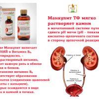 Манкулит | Растворяет камни в мочеполовой системе + Витамин B6