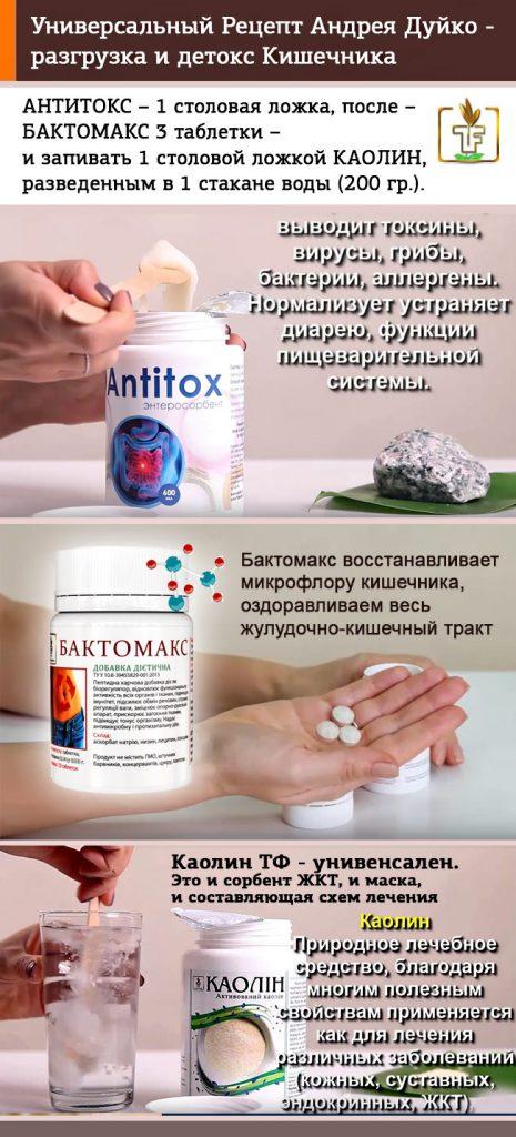 Антитокс Бактомакс Каолин - рецепт лечения